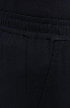 Мужские хлопковые домашние брюки ZIMMERLI темно-синего цвета, арт. 3460-95304 | Фото 5 (Длина (брюки, джинсы): Стандартные; Кросс-КТ: домашняя одежда; Мужское Кросс-КТ: Брюки-белье; Материал внешний: Хлопок)