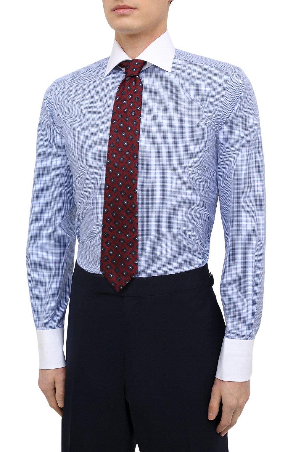 Мужская хлопковая сорочка TOM FORD синего цвета, арт. 9FT132/94SWAX | Фото 4