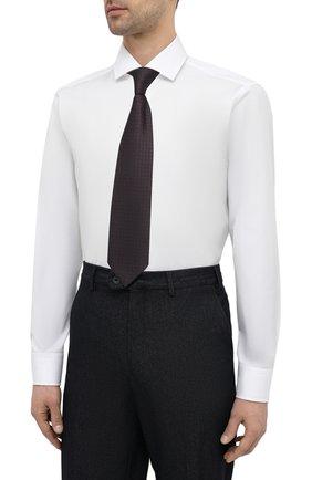 Мужская хлопковая сорочка BOSS белого цвета, арт. 50420214 | Фото 4