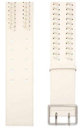 Женский кожаный ремень ALEXANDER MCQUEEN белого цвета, арт. 621405/1BR18 | Фото 2