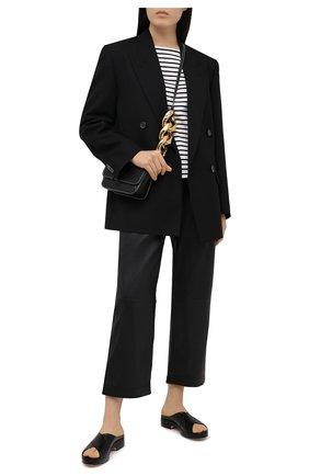 Женские кожаные брюки WINDSOR черного цвета, арт. 52 DL502 10011008 | Фото 2