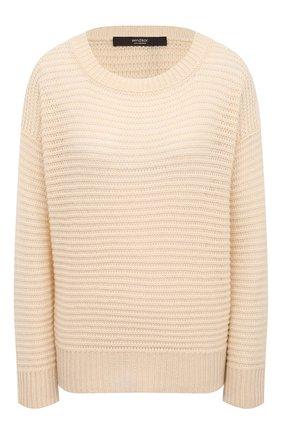 Женский кашемировый пуловер WINDSOR бежевого цвета, арт. 52 DP515 10000805 | Фото 1