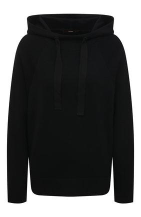 Женский шерстяное худи WINDSOR черного цвета, арт. 52 DP521 10011729 | Фото 1