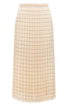 Женская плиссированная юбка WINDSOR светло-бежевого цвета, арт. 52 DR522H 10011825 | Фото 1
