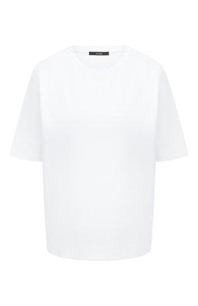 Женская хлопковая футболка WINDSOR белого цвета, арт. 52 DT514 10011622 | Фото 1