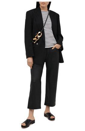 Женская хлопковый лонгслив WINDSOR черно-белого цвета, арт. 52 DT518 10011626 | Фото 2