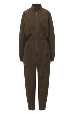 Женский джинсовый комбинезон AGOLDE хаки цвета, арт. A8019-1001   Фото 1