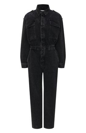 Женский джинсовый комбинезон AGOLDE серого цвета, арт. A8016-1157   Фото 1