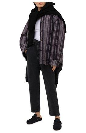 Женский джинсовый комбинезон AGOLDE серого цвета, арт. A8016-1157   Фото 2