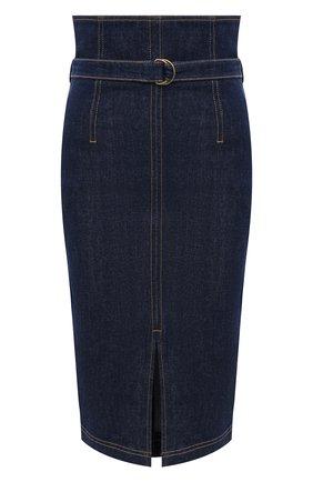 Женская джинсовая юбка PHILOSOPHY DI LORENZO SERAFINI синего цвета, арт. A0106/730 | Фото 1