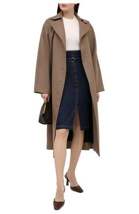 Женская джинсовая юбка PHILOSOPHY DI LORENZO SERAFINI синего цвета, арт. A0106/730 | Фото 2