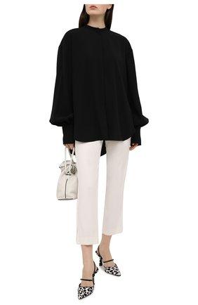 Женские брюки из вискозы и шерсти REDVALENTINO белого цвета, арт. VR3RBD45/WBP | Фото 2