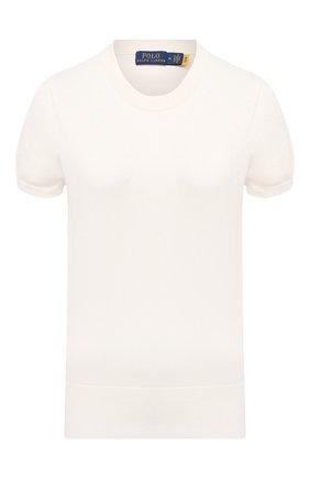 Женский хлопковый пуловер POLO RALPH LAUREN кремвого цвета, арт. 211784760 | Фото 1