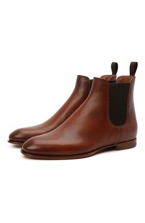Женские кожаные ботинки SANTONI светло-коричневого цвета, арт. WTSF57515HAFNLGAC30 | Фото 1
