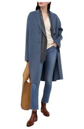Женские кожаные ботинки SANTONI светло-коричневого цвета, арт. WTSF57515HAFNLGAC30 | Фото 2