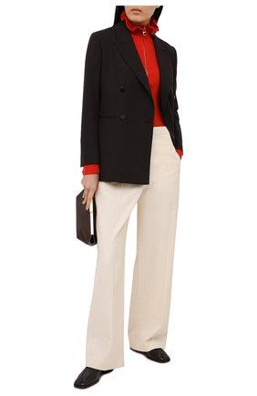 Женский пуловер из шерсти и кашемира CHLOÉ красного цвета, арт. CHC21SMP85510 | Фото 2