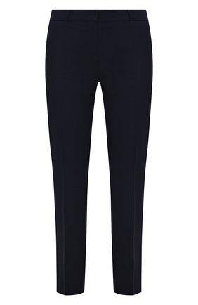 Женские хлопковые брюки BOSS темно-синего цвета, арт. 50448900 | Фото 1