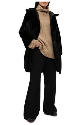 Женская шуба из меха норки KUSSENKOVV черного цвета, арт. 702800002556 | Фото 2