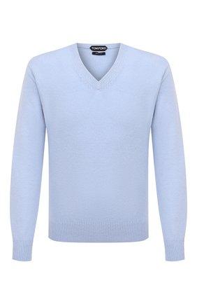 Мужской кашемировый свитер TOM FORD голубого цвета, арт. BWK70/TFK100 | Фото 1