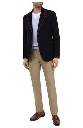 Мужской кашемировый свитер TOM FORD голубого цвета, арт. BWK70/TFK100 | Фото 2