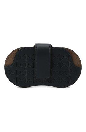 Мужской кожаный футляр для очков SERAPIAN темно-синего цвета, арт. SRM0SMSL715916A | Фото 1