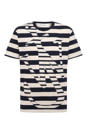 Мужская хлопковая футболка JW ANDERSON синего цвета, арт. JT0008 PG0428 | Фото 1