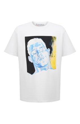 Мужская хлопковая футболка j.w. anderson x pol anglada JW ANDERSON белого цвета, арт. JT0016 PG0079 | Фото 1