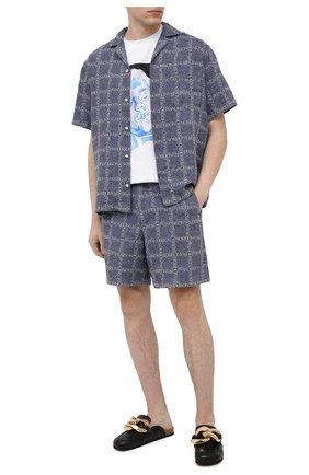 Мужская льняная рубашка JW ANDERSON темно-синего цвета, арт. SH0083 PG0211 | Фото 2