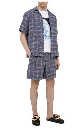 Мужские льняные шорты JW ANDERSON темно-синего цвета, арт. SR0019 PG0211 | Фото 2