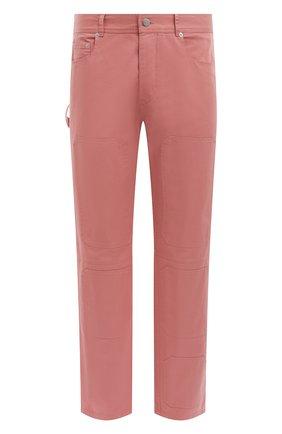 Мужские хлопковые брюки JW ANDERSON розового цвета, арт. TR0118 PG0110 | Фото 1