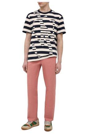 Мужские хлопковые брюки JW ANDERSON розового цвета, арт. TR0118 PG0110 | Фото 2