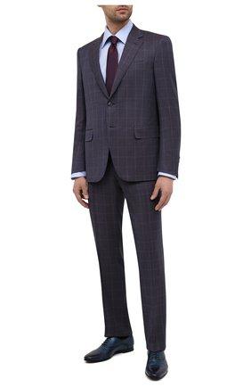 Мужской шерстяной костюм CANALI темно-синего цвета, арт. 11280/10/BF00480   Фото 1