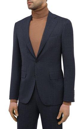 Мужской шерстяной костюм CANALI темно-синего цвета, арт. 25280/50/AR03173   Фото 2