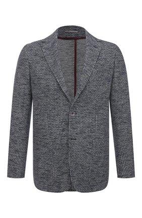 Мужской пиджак из хлопка и льна CANALI серого цвета, арт. J0147/JJ01971   Фото 1
