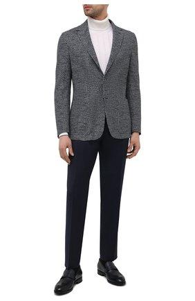 Мужской пиджак из хлопка и льна CANALI серого цвета, арт. J0147/JJ01971   Фото 2