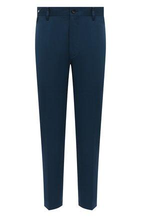 Мужские шерстяные брюки LANVIN синего цвета, арт. RM-TR0060-4576-P21 | Фото 1