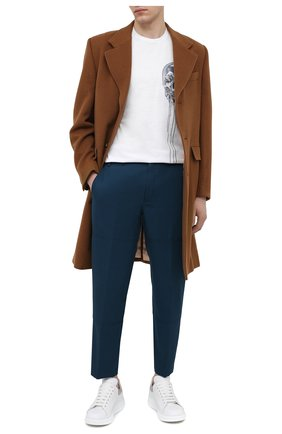 Мужские шерстяные брюки LANVIN синего цвета, арт. RM-TR0060-4576-P21 | Фото 2