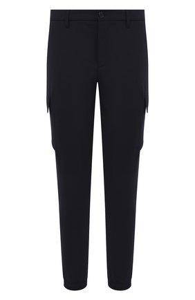 Мужские брюки-карго NEIL BARRETT темно-синего цвета, арт. PBPA827/Q005 | Фото 1