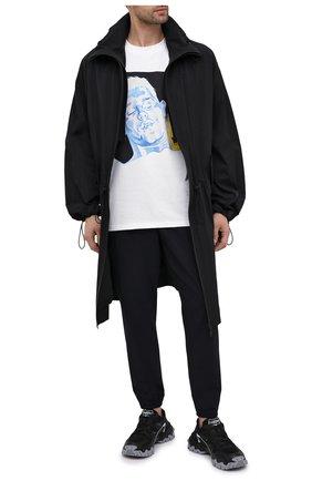 Мужские брюки-карго NEIL BARRETT темно-синего цвета, арт. PBPA827/Q005 | Фото 2
