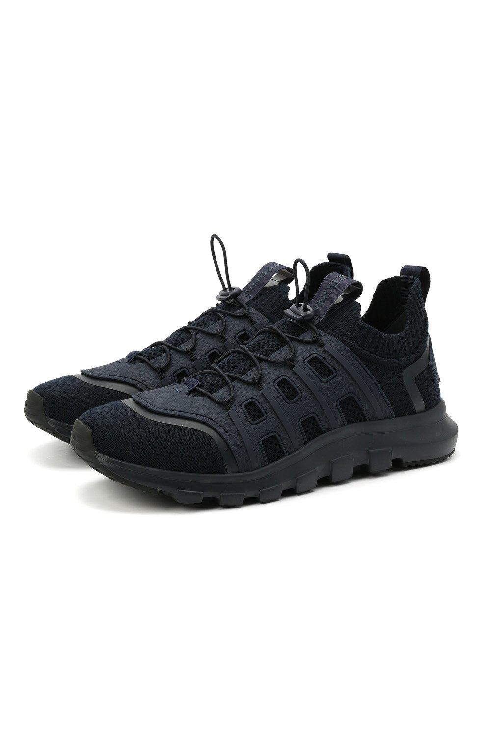 Мужские текстильные кроссовки sock 2.0 Z ZEGNA темно-синего цвета, арт. A4917X-LHTPU   Фото 1 (Материал внешний: Текстиль; Материал внутренний: Текстиль; Подошва: Массивная; Стили: Спорт)