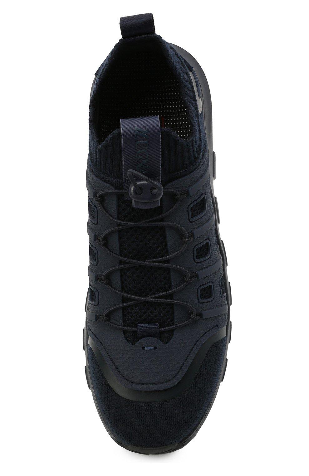 Мужские текстильные кроссовки sock 2.0 Z ZEGNA темно-синего цвета, арт. A4917X-LHTPU   Фото 5 (Материал внешний: Текстиль; Материал внутренний: Текстиль; Подошва: Массивная; Стили: Спорт)