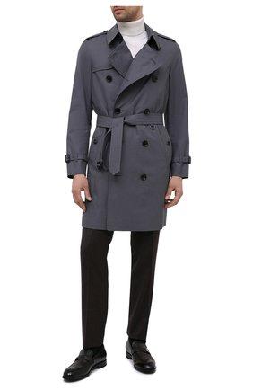 Мужские кожаные лоферы ERMENEGILDO ZEGNA темно-коричневого цвета, арт. A4944X-LHNAX | Фото 2