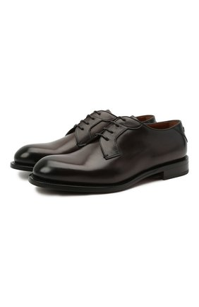 Мужские кожаные дерби firenze ZEGNA COUTURE темно-коричневого цвета, арт. A4418X-LHBEP | Фото 1