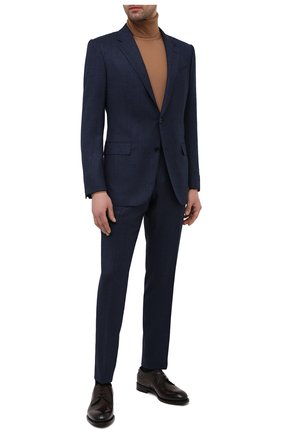 Мужские кожаные дерби firenze ZEGNA COUTURE темно-коричневого цвета, арт. A4418X-LHBEP | Фото 2