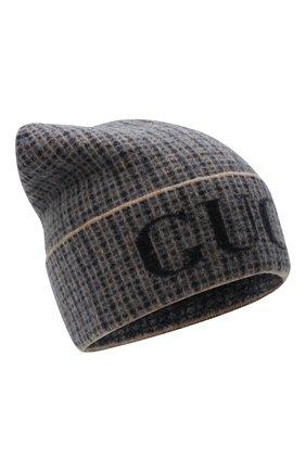 Мужская шерстяная шапка GUCCI синего цвета, арт. 649686/4GAAR | Фото 1