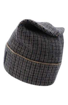 Мужская шерстяная шапка GUCCI синего цвета, арт. 649686/4GAAR | Фото 2