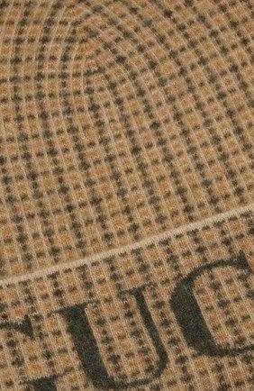 Мужская шерстяная шапка GUCCI бежевого цвета, арт. 649686/4GAAR | Фото 3 (Материал: Шерсть; Кросс-КТ: Трикотаж)