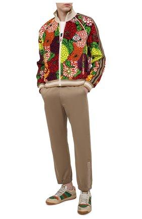 Мужской хлопковая толстовка GUCCI разноцветного цвета, арт. 645221/XJC51 | Фото 2