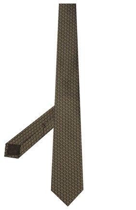Мужской шелковый галстук GUCCI хаки цвета, арт. 643994/4E002 | Фото 2