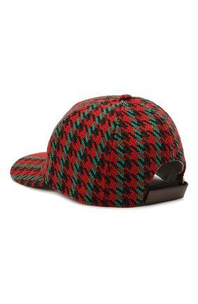Мужской шерстяная бейсболка GUCCI красного цвета, арт. 640869/4HAAC | Фото 2